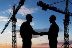 Dwa architektów chwiania ręka Obrazy Stock