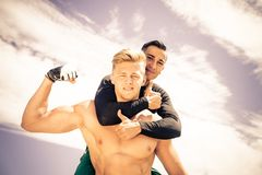 Dwa atlet bawić się Zdjęcie Stock