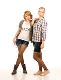 Dwa atrakcyjnego blondynka ucznia Zdjęcia Royalty Free