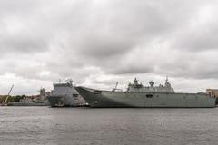 Dwa Australijskiego statku wojennego w Sydney schronieniu Obrazy Stock