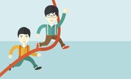 Dwa azjata facet biega meta ilustracji
