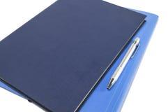 Dwa błękitów dzienniczek z piórem Obraz Royalty Free