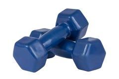 Dwa błękitnego dumbbells Obraz Stock
