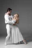 Dwa baletniczych tancerzy młody ćwiczyć atrakcyjny Obraz Stock