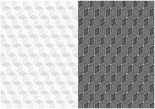 Dwa Bezszwowego Geometrycznego wzoru projekta ilustracji
