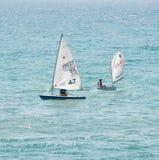 Dwa bieżny jacht w Czarnym morzu obrazy royalty free