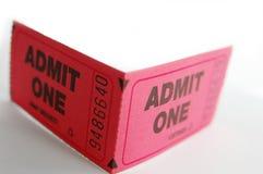 dwa bilety Zdjęcia Stock