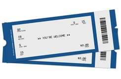 dwa bilety Zdjęcie Royalty Free