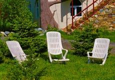 Dwa biurka krzesła Zdjęcie Stock