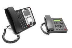 Dwa biurowy telefon odizolowywający Obraz Royalty Free