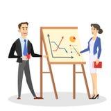 Dwa biznes?w osoby rozmowa i stojak Biznesmen ilustracji