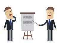 Dwa biznesmenów wektoru ilustracja Myśleć o i prezentacja ilustracja wektor