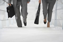 Dwa biznesmena Chodzi W górę schodków Obraz Stock