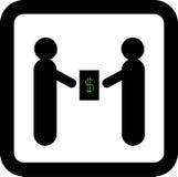 Dwa biznesmena robią transakci dolarów Zdjęcia Stock
