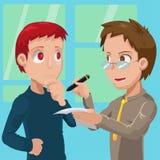 Dwa Biznesowego mężczyzna spotkania rozmowa royalty ilustracja