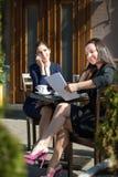Dwa biznesowej kobiety Fotografia Royalty Free