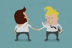 Dwa biznesowy obsługują chwianie ręki Obraz Stock
