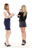 Dwa młodej biznesowej kobiety. Fotografia Stock