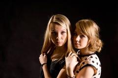 Dwa blondynki młoda seksowna kobieta Fotografia Royalty Free