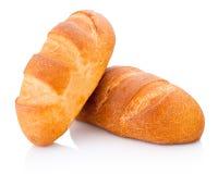 Dwa bochenek odizolowywający na białym tle chleb obraz stock
