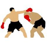 Dwa bokserów walczyć Zdjęcie Stock