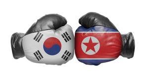 Dwa bokserska rękawiczka obraz stock
