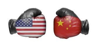 Dwa bokserska rękawiczka zdjęcia royalty free