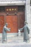 Dwa brązowej statuy urzędnicy w Qing dynastii zdjęcia royalty free