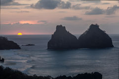 Dwa braci Fernando De Noronha wyspa Zdjęcie Royalty Free