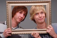Dwa brata, portrety, Zdjęcia Royalty Free