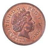 Dwa brytyjskiego centu moneta Zdjęcia Stock