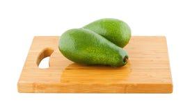 Dwa całego avocados Zdjęcie Royalty Free