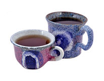 Dwa ceramicznej herbacianej filiżanki Obrazy Stock