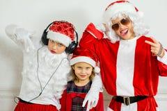 Dwa chłopiec udaje jest Zły Santa Zdjęcie Royalty Free