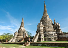 Dwa Chedis w Tajlandia zdjęcia royalty free