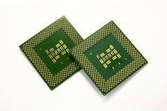 Dwa chip komputerowy procesoru Fotografia Stock