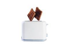 Dwa chlebów skok od opiekacza Fotografia Stock