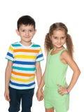 Dwa chodzącego moda dzieciaka zdjęcie royalty free