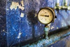 Dwa ciśnieniowy manometr Zdjęcie Stock