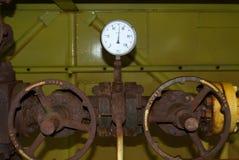 Dwa ciśnieniowy manometr Zdjęcia Stock