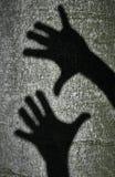 Dwa cień ręki Obraz Stock