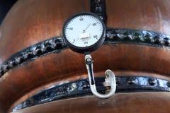 Dwa ciśnieniowy manometr Zdjęcia Royalty Free