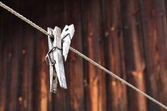 Dwa Clothespins Zdjęcia Royalty Free