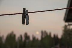Dwa Clothespins zdjęcie stock