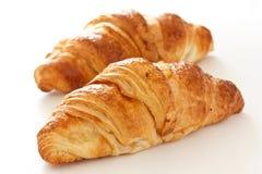 Dwa crispy croissants Obraz Royalty Free