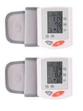 Dwa cyfrowy tonometer w depresji i wysokim nacisku Zdjęcia Royalty Free