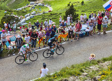 Dwa cyklisty Obraz Royalty Free