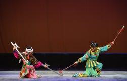 """Dwa członków generał--Peking opery """"Little Worriors Yeuh's family† Zdjęcie Royalty Free"""