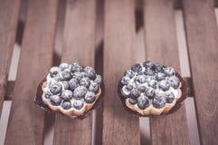Dwa czarna jagoda kulebiaka Fotografia Royalty Free