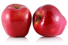 Dwa czerwieni jabłko. zdjęcia royalty free